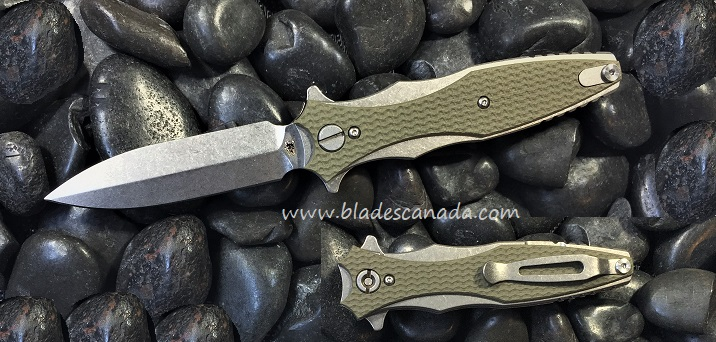 Hinderer Maximus Dagger Single Edge SW OD Green G10 (Online Only