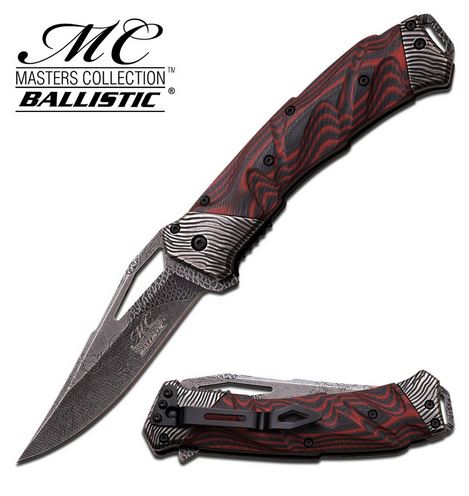 Master Collection A021BR Etched Dragon, Red G-10 (Online Only)
