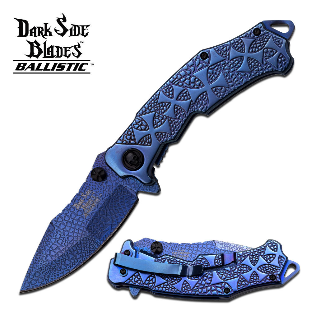 Dark Side Blades DSA031BL Assisted Opening-Blue Ti (Online Only)