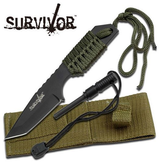 MC SurviVor HK106320 Cord Wrapped Tanto - Green (Online Only)