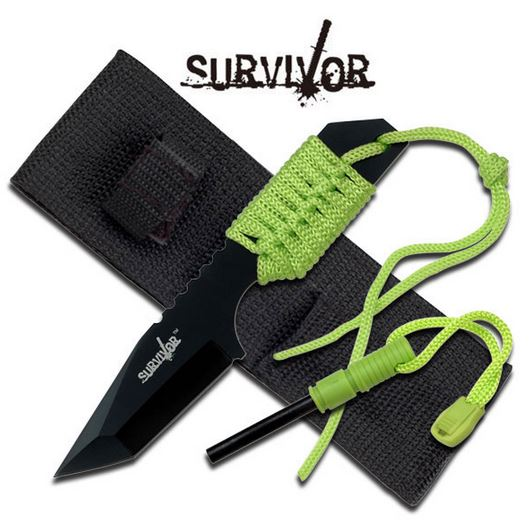 MC SurviVor HK106320GN Cord Wrapped Tanto (Online Only)