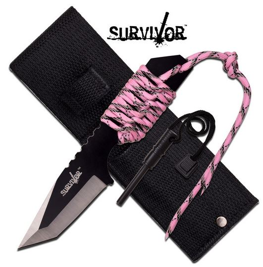 MC SurviVor HK106320PK Cord Wrapped Tanto (Online Only)