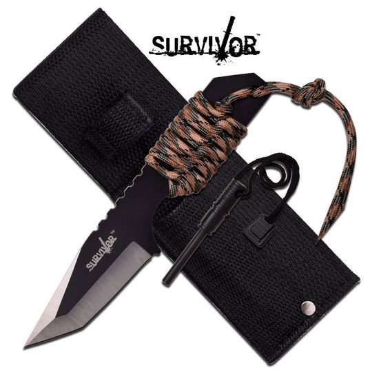MC SurviVor HK106320TN Cord Wrapped Tanto (Online Only)