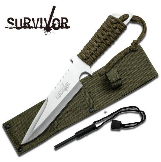 SurviVir HK739SL Cord Wrapped Fixed Blade (Online Only)