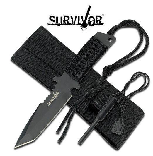 SurviVor HK760 Mini Tanto Fixed Blade (Online Only)