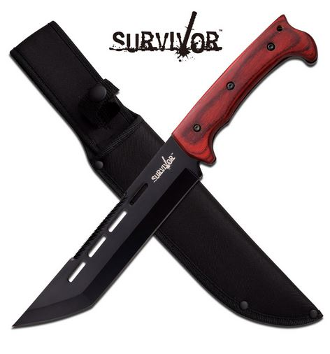 MC SurviVor HK776WD Tanto Fixed Blade - Pakkawood (Online Only)
