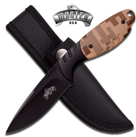 Master MU1129 Drop Point Desert Camo Fixed Blade (Online Only)