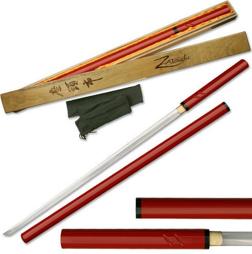 MC SW351R Zatoichi Samurai Sword - Redwood (Online Only)