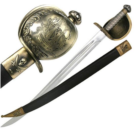 MC YK132 Stainless Pirate Sword with Metal Guard