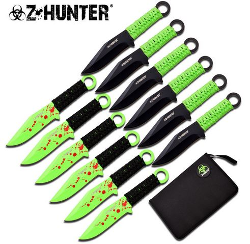 "Z-Hunter ZB165-12 Zombie 6"" Throwing Set (Online Only)"