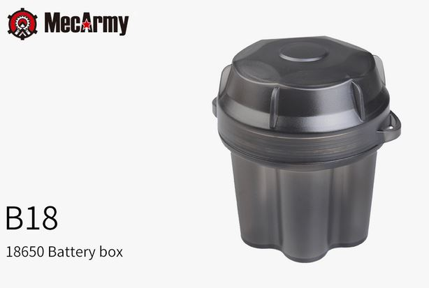 MecArmy B18 Battery Box - Holds Six 18650 Batteries