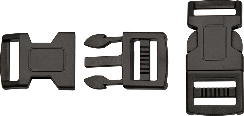 Paracord Large Buckle 4-Pack [Black] - Double Slot
