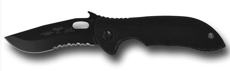 "Emerson Micro Commander Black w/Serration ""Wave"" (Online Only)"