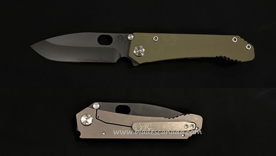 Medford 187 Deployment Drop Point Folder Black PVD- OD Green G10