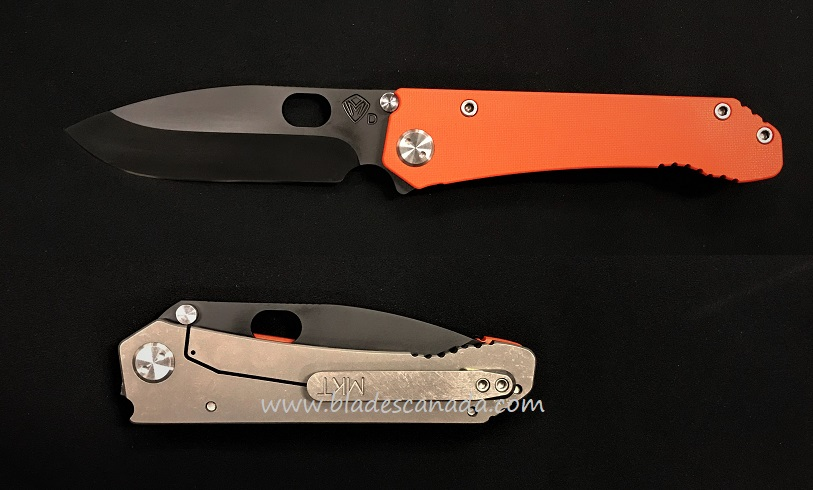 Medford 187 Deployment Drop Point Folder Black PVD- Orange G10