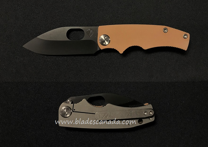 Medford Deployment Ramp Nose Black PVD - Coyote G10/Ti Tumble