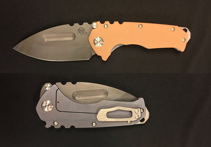 Medford Praetorian G Drop Point Vulcan- Blue Titanium/Coyote G10