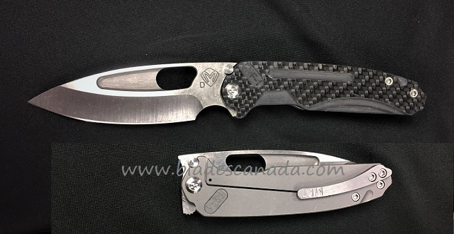 Medford Infraction Folder Tumble Finish D2 - Carbon Fiber
