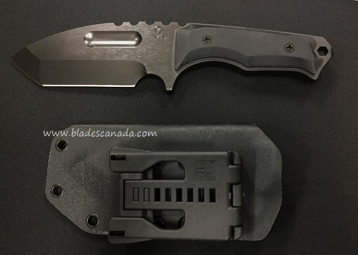 Medford Emperor Black PVD, Black G10 w/ Kydex Sheath