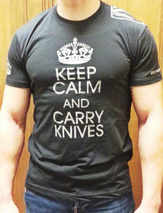 Medford T-Shirt Keep Calm and Carry Knives