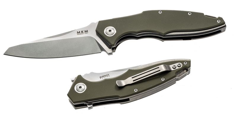 MKM Raut Folder M390 Blade G10 Scales - Grey