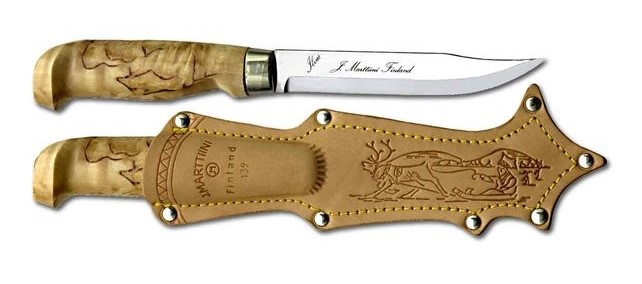 Marttiini 139010 Lynx Knife 139 w/ Leather Sheath