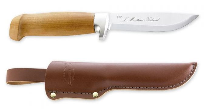 Marttiini 161014 Birch Skinner w/ Leather Sheath