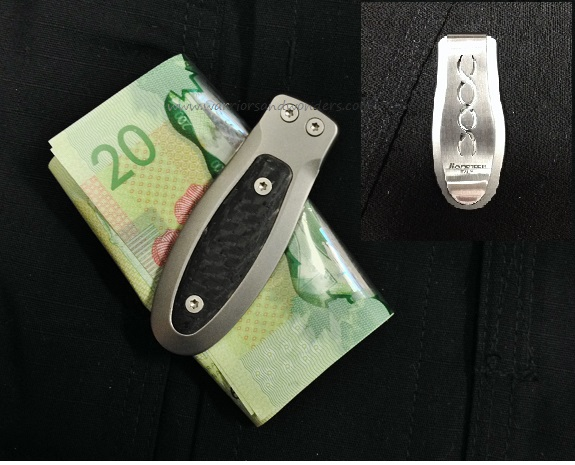 Lion Steel Money Clip Titanium with Carbon Fiber