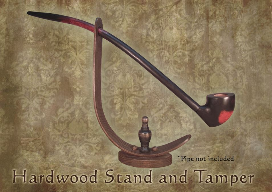 MacQueen Pipes Hardwood Pipe Stand and Tamper