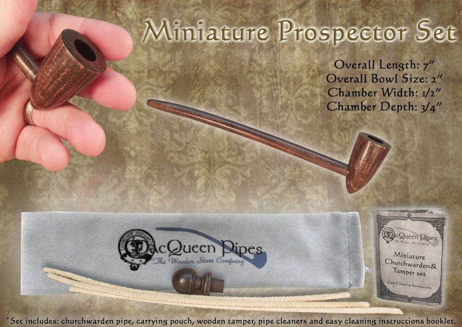 MacQueen Pipes 'Miniature Prospector' Set