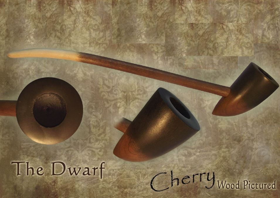 MacQueen Pipes 'The Dwarf' - Cherry Wood
