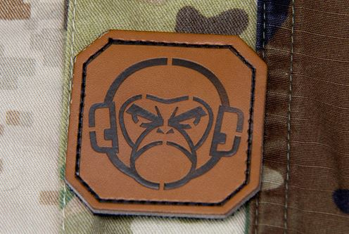 Mil-Spec Monkey Patch - Mini Leather Monkey Head