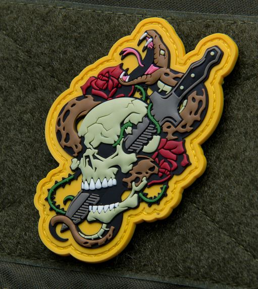 Mil-Spec Monkey Patch - Skull Snake Tattoo #1