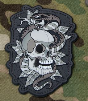 Mil-Spec Monkey Patch - Skull Snake Tattoo #2