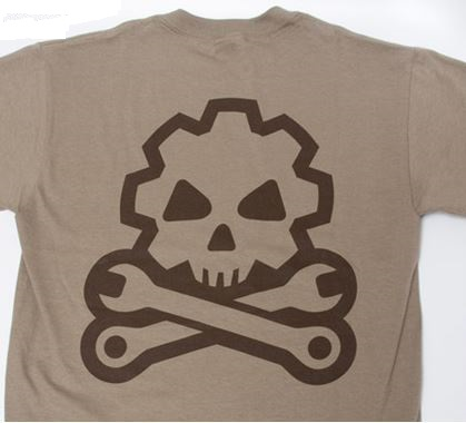 Mil-Spec Monkey Shirt Death Mechanic- Dusty Brown [Clearance M]