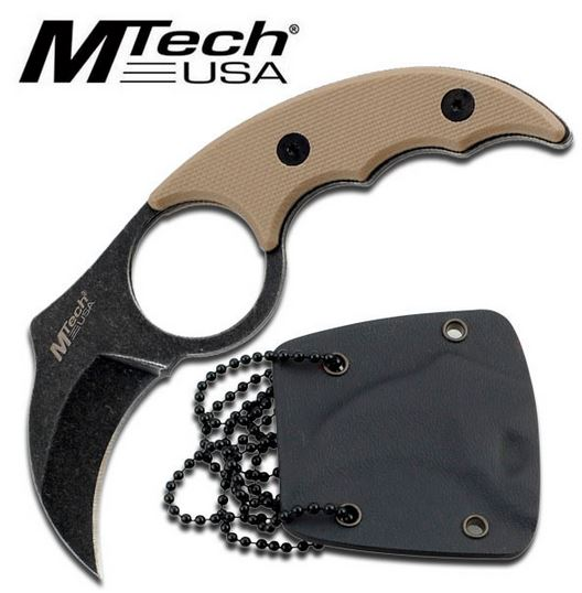 MTech 2034 Tan Mini Claw w/ Kydex Sheath (Online Only)