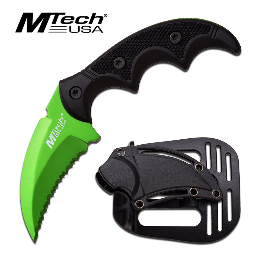 MTech 2063GN Mini Karambit Green Blade, Serrated (Online Only)