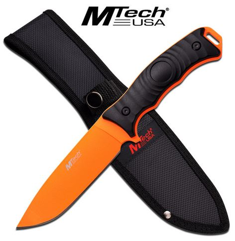"MTech 2070CO Fixed Blade 5"" - Neon Orange (Online Only)"