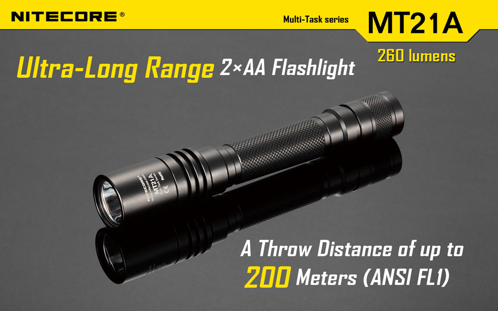 Nitecore MT21A Ultra-Long Range Flashlight - 260 Lumens