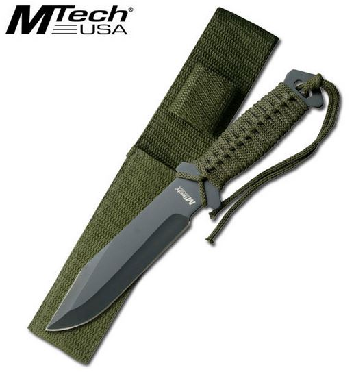 MTech 528C Green Cord Wrap Fixed Blade (Online Only)