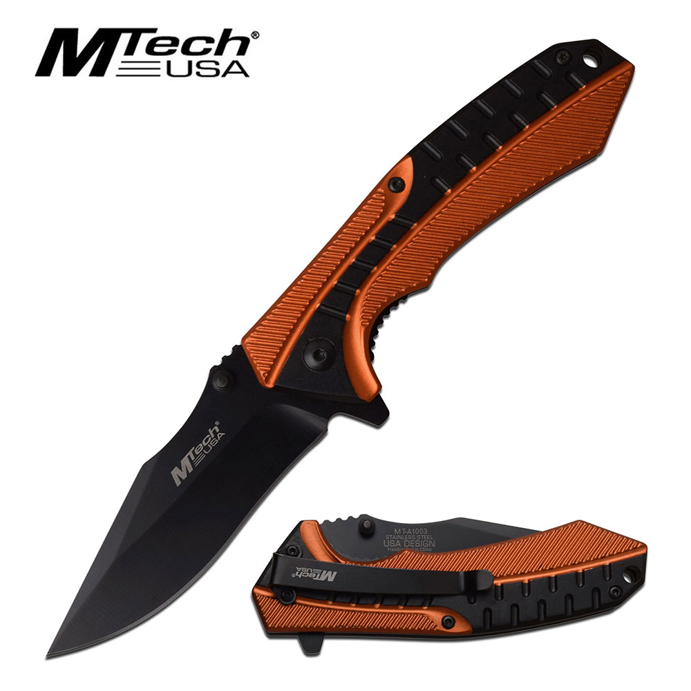 Mtech A1003OR Aluminum Assisted Folder- Orange (Online Only)