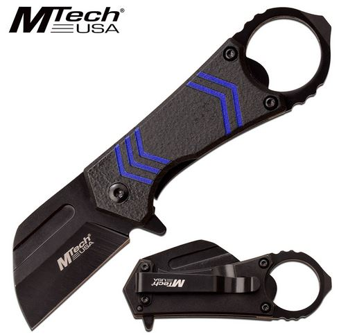 Mtech Knives Flipper Framelock Folder, Aluminum Handle, Assisted Opening, MTA1188BL