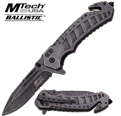 MTech A860SW Stonewash Ribbed Stainless Folder (Online Only)