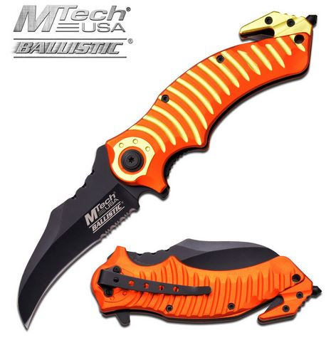 MTech A884OY Mata Orange Yellow Assisted Open (Online Only)