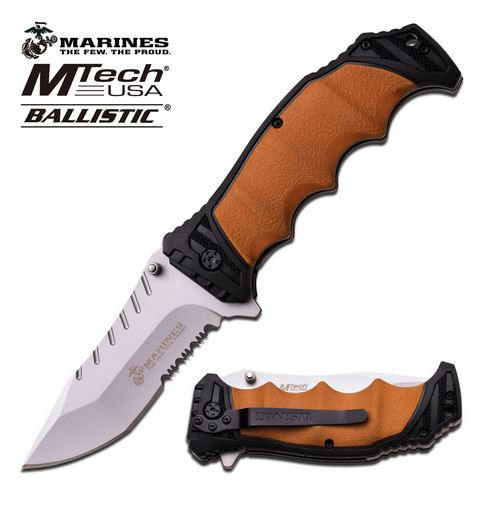 MTech MA1039BT Marines Assisted Satin Folder - Tan (Online Only)