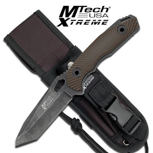 MTech Xtreme 8110BN Elite Tanto, Brown G-10 Handle (Online Only)