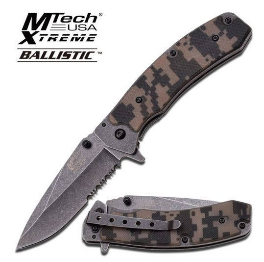 MTech Xtreme A825 Digital Camo Half Serrated (Online Only)