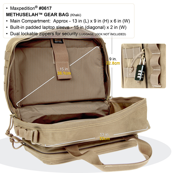 Maxpedition Methuselah Gear Bag (Medium) - Khaki
