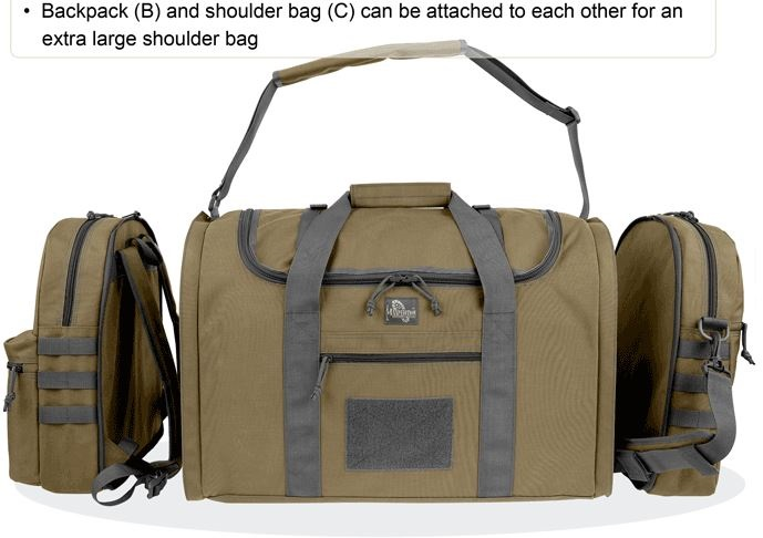 Maxpedition 3-in-1 Load-Out Duffel Bag - Khaki/Foliage