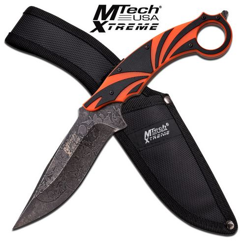 "MTech Xtreme 8138OR Ringed 5"" Fixed Blade Orange (Online Only)"